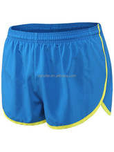 custom 100% polyester blue and yellow mens basketball shorts