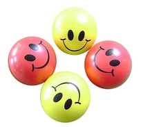 smile face promotional PU foam antistress ball with customize shape