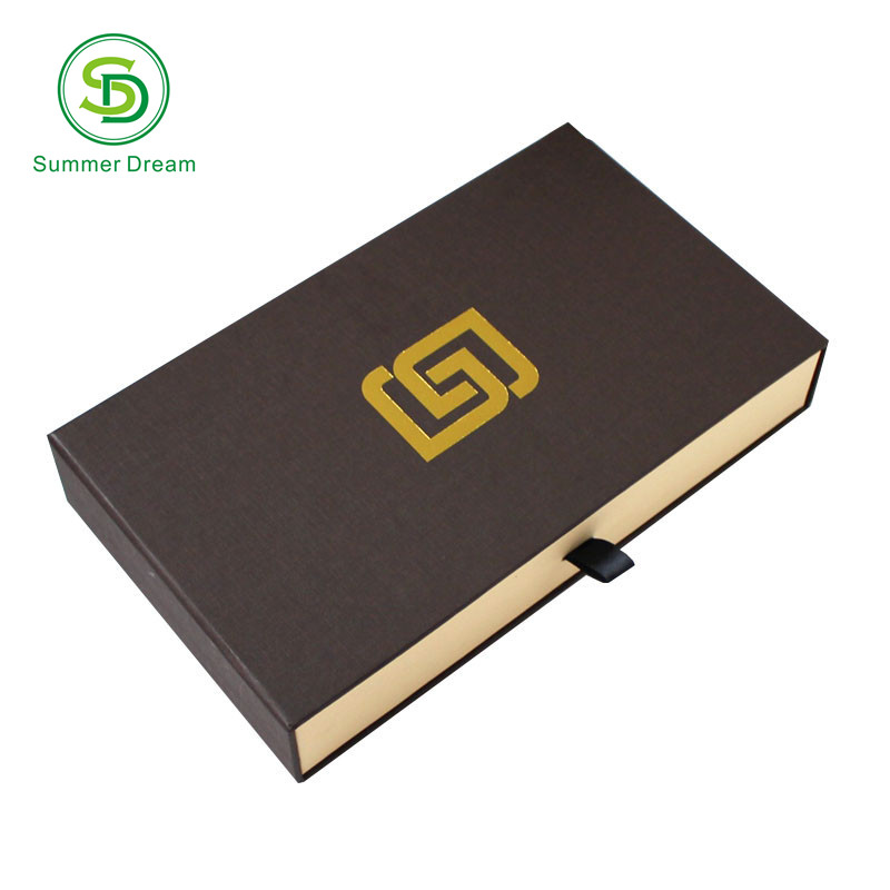 fancy design drawer cardboard gift box packaging for wallet