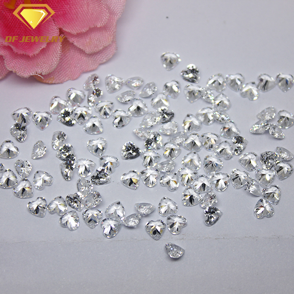 Wholesale Price Clear Cubic Zirconia Heart Cut White CZ Gemstone