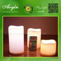Plastic christmas lights led light remote candle