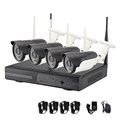 Easy Using! 4ch 720P Waterproof Surveillance Wireliess Security Outdoor CCTV Camera System