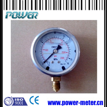 "2.5"" bottom connection 16 MPa liquid filled high pressure gauge"