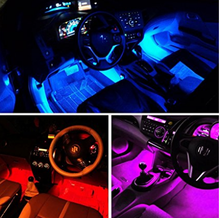 4PCS Multi color auto LED Car Atmosphere Interior Lights /colorful Floor Lights kit for all cars