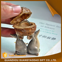 Figurine statues of boy and girl garden decoration animal resin craft