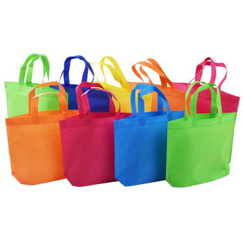 biodegradable plastic bags cheap colorful eco nonwoven fabric carrying bag