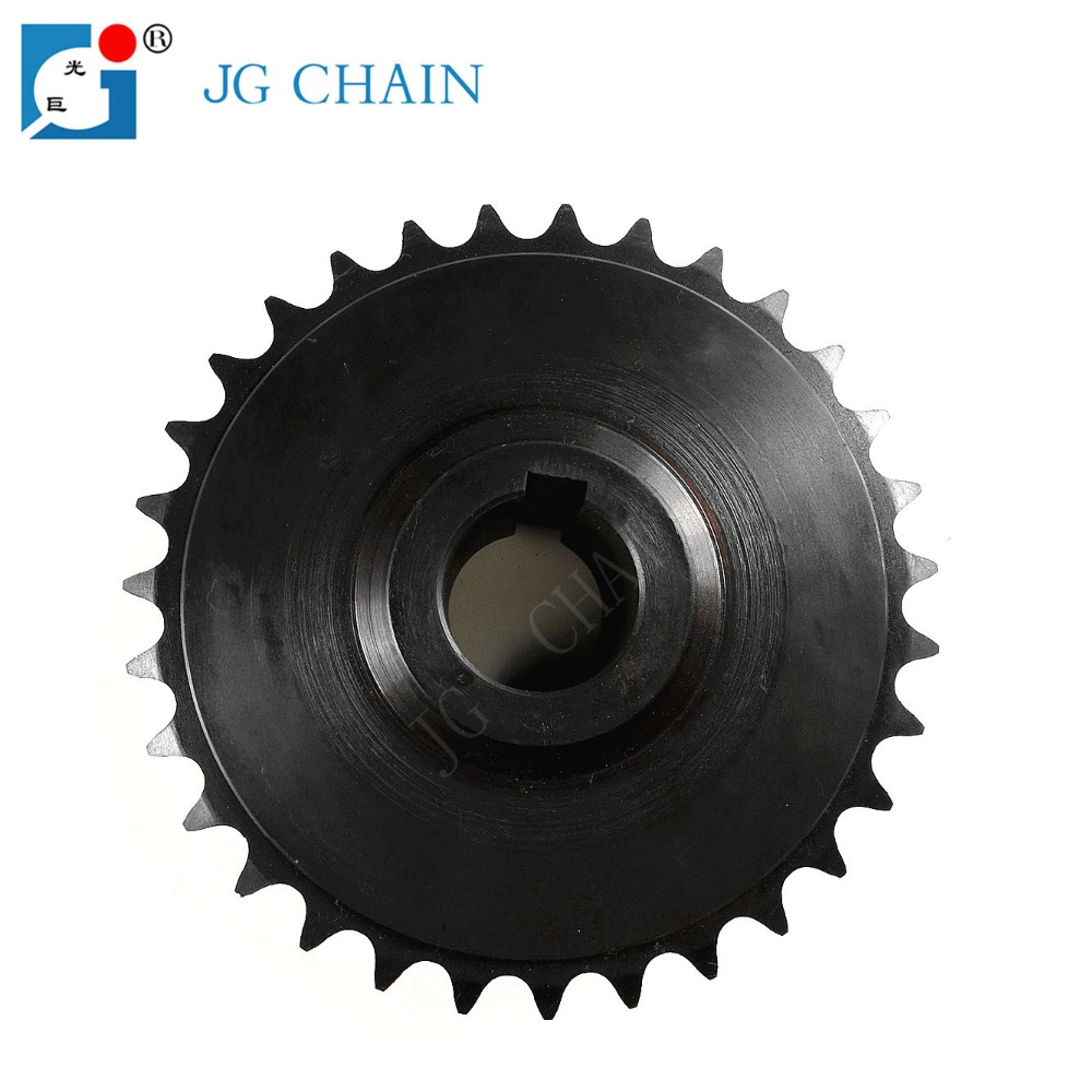 DIN standard transmission steel roller chain sprocket 10b