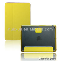 High quality hot flip leather case for ipad 5