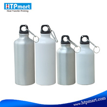 Aluminum Sport Bottle with Screw cap white silver sports water bottle carrier