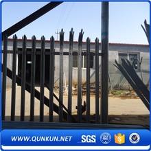 Good Looking Direct Factory Euro Fence Triple Pointed Hot Dip Galvanised D Or W Shape Palisade Fencing