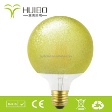 2016 new style orange peel color energy saving G95 G125 global LED filament bulb E26/E27 CE ROHS ETL