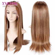 Wholesale top quality brazilian human hair ombre wig