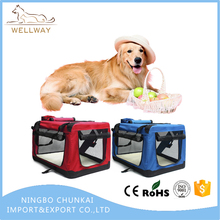 Folding Pet Crate with Curtains Soft Dide Easily Fold Up And Folding Collapsible Cage