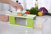 Manual vegetable slicer Nice fruit box dicer with storage multi function hand held vegetable cutter and chopper as seen on TV
