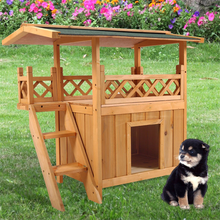 Outdoor hot selling wooden Dog Kennel with Balcony