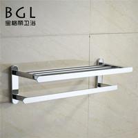 luxury brand manufactory double zinc alloy chrome finishing items towel rack