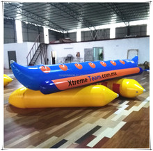 Best Selling Water Banana Boat Tube Ocean Adventure Sport Game Toy Towable Inflatable Banana Boat For Sale