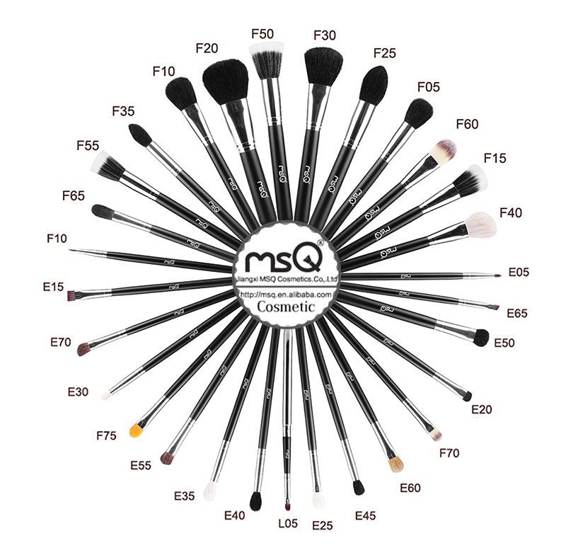 MSQ brand 29pcs best sale professional makeup brush set