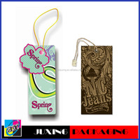 2013 Best Quality printed plastic hang tags for garments