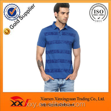 celio blue striped mens latest design polo t-shirt wholesale high end fashion clothing
