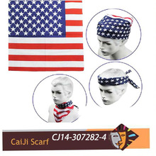 2014 Unisex US Flag Head Bandanas Scarf Kerchief Wholesale