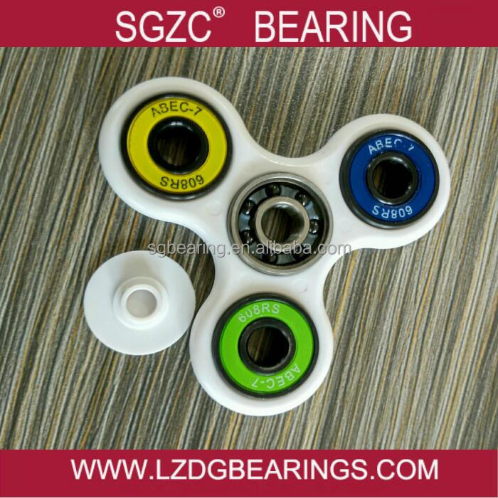 fidget spinner with ABS Plastic holder+ Silicone Nitride (Si3N4) Hybrid Ceramic Bearing In Center