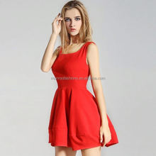 monroo adult girl sleeveless puffy women clothes ladies modern dress