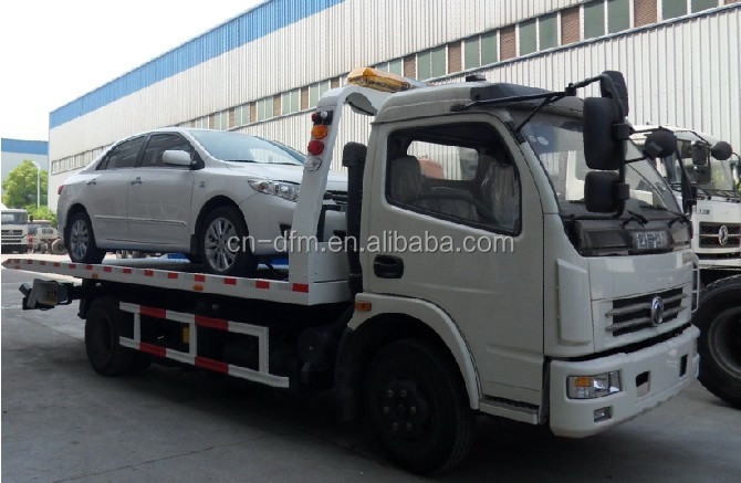 Cheap Road Wrecker Towing Truck Flatbed Tow truck to transport 2 cars For Sale