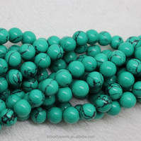 8mm green Synthesis wholesale bulk turquoise stone