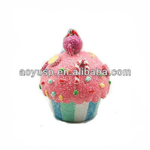 polymer clay Cupcake with candies