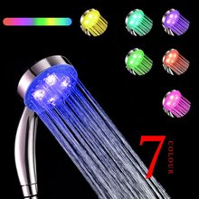 GreForest LED Shower Head Color Changing 7 Colors Gradual Changing