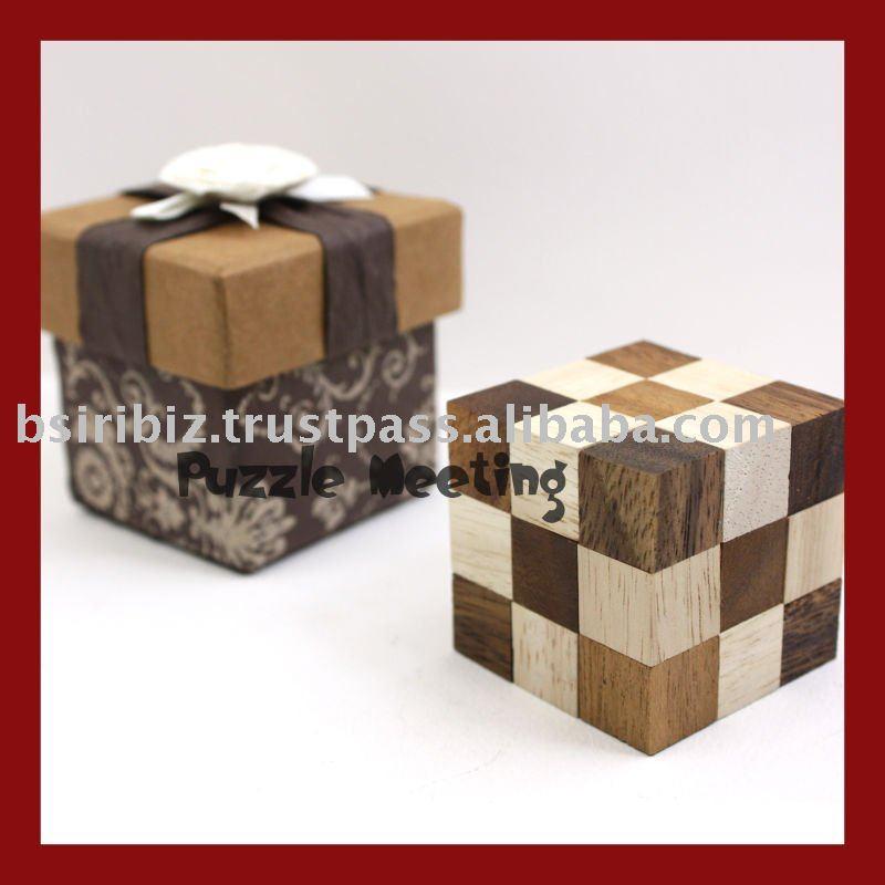 Rompecabezas de madera rompecabezas de serpiente con caja de regalo artesan a madera - Caja rompecabezas ...