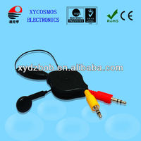 Convenient for phone/MP3,MP4 player retractable earphone cable