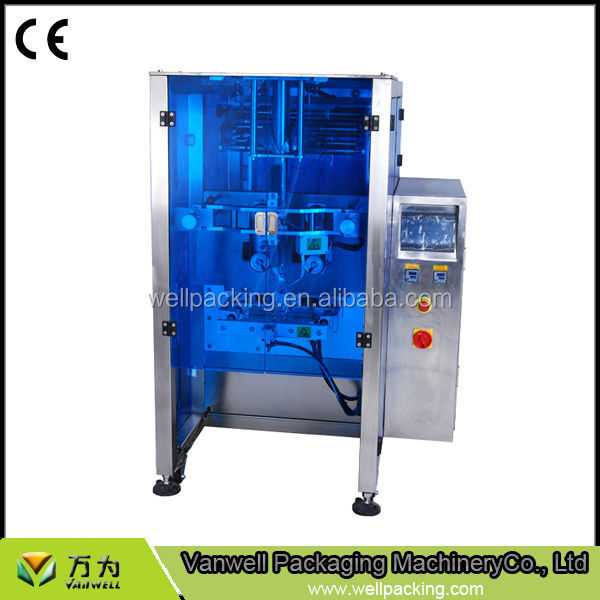 price VL450 packing machine with gusset device pack for food metal production line