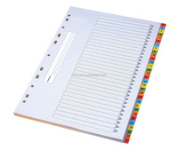 High quality paper Index Dividers