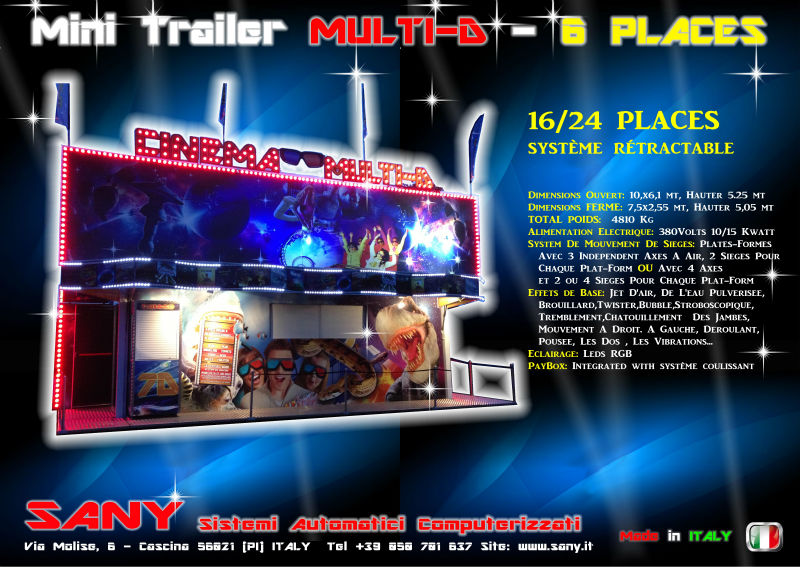 Cinema MULTI-D 16 places on Trailer