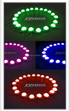 Hole mouting leds /screw install led poi pixel lights 50mm high power 1.55w 24 volt lamps