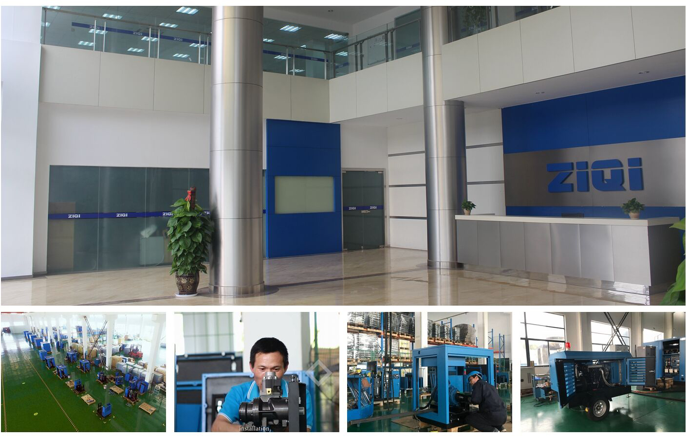 factory price of mobile oil-less air compressor for sale
