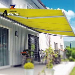 Hot new products electric sunshade awning plastic manufacture metal shade structure gold supplier