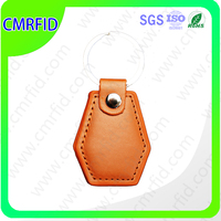 Leather made high quality rfid key fob tags
