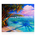 Wall Art Canvas Prints Oil Painting Tropical Scenery Canvas Art Print Seascape Wall Picture for Living Room