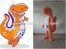 carnival costume customized orange dinosaur mascot costumes