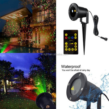 Christmas lights For Tree Decoration Waterproof Outdoor Christmas Laser Firefly Decorative Light Projector