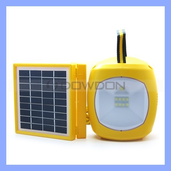 9 LED Multifunction Hand Lamp Rechargeable Solar Emergency Light