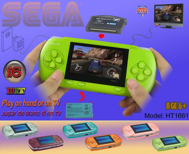 16 Bit Video Entertainment System PVP Digital Pocket Sega Handheld Game TV video game player with funny games