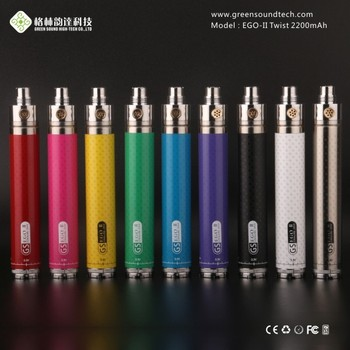 Vapor starter kit GS eGo II Twist 2200mah Variable Voltage Mod 3.3v-4.8v Vapor E Ciagarette Starter Kit