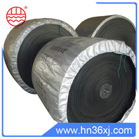 Sorting black color modular conveyor belt with polyester cotton canvas