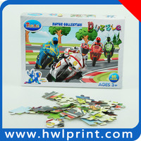 80 pieces jigsaw puzzle game card motorcycle race