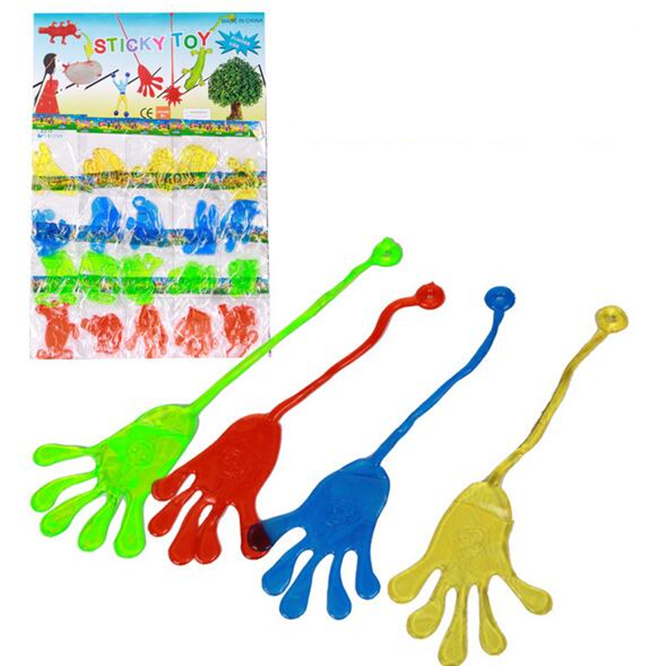 yiwu china soft <strong>toys</strong> factory supply cheap small plastic <strong>toys</strong> for kids gifts ECO friendly TPR material Sticky Hands <strong>toy</strong>