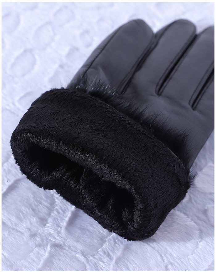 EACHOO Warmen Stylish motorcycle driving Winter Warm 100%Lambskin mens Leather Gloves